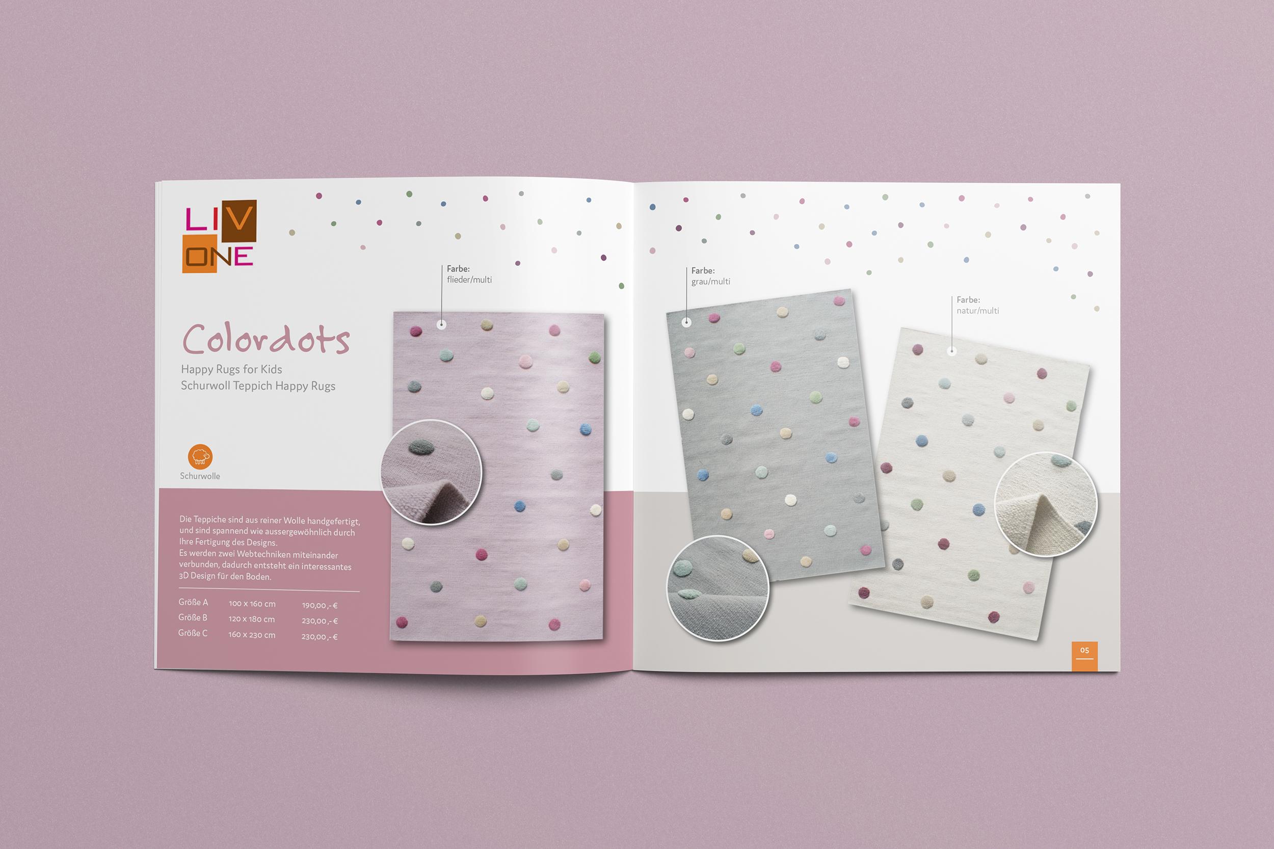 Broschüren für Kinderteppich Kollektion
