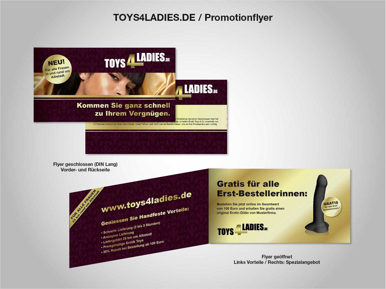 werbeflayer Für unseren Erotik Toy direkt liefer.. » Flyer-Design ...