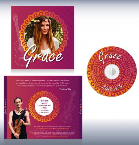 CD-Cover-Design für Musikerin