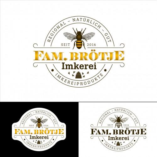 Logo-Design für kleine Imkerei