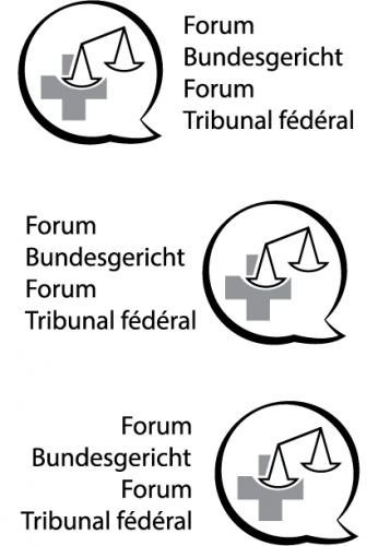 Logo-Design für Forum Schweizerisches Bundesgericht