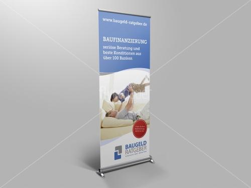 RollUp Druck 85x200cm für Finanzdienstleister