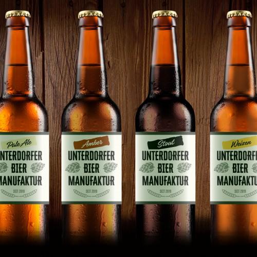 Biermanufaktur sucht Etikette für Bierflasche
