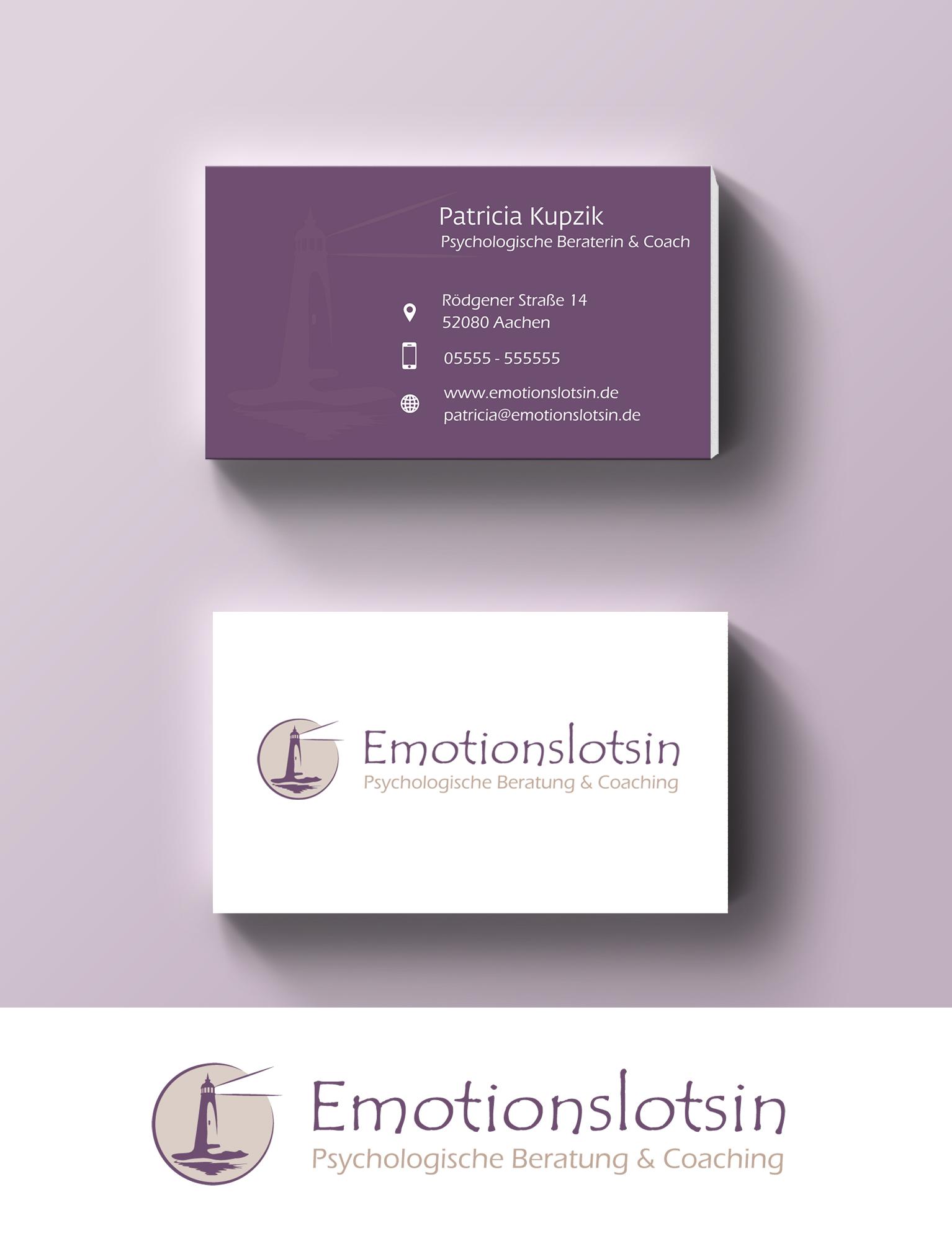 Logo Visitenkarte Für Psychologische Berat Logo