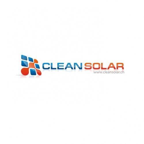 Logo fr Solar-Reinigungsfirma