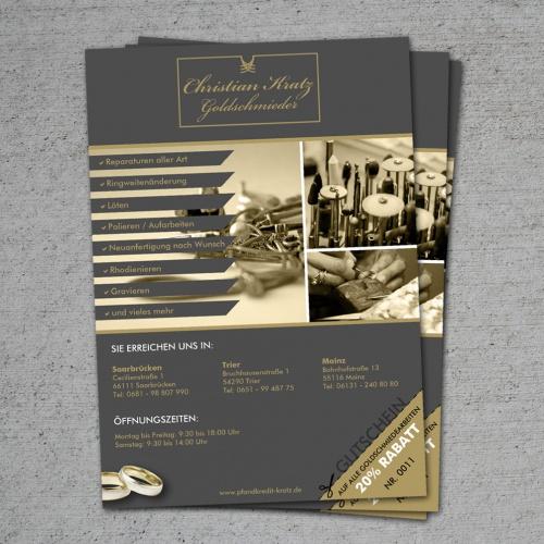 Coupon Flyer | Goldschmiede Sucht Flyer Mit Gutschein Abriss Flyer Design
