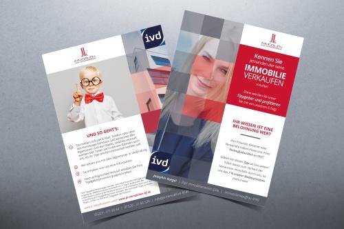 Flyer-Design für Jungmaklerin