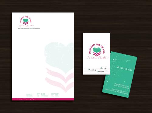 Geschäftsausstattung für Fotograf (Hochzeits-&Portraitfotografie); logo vorhanden