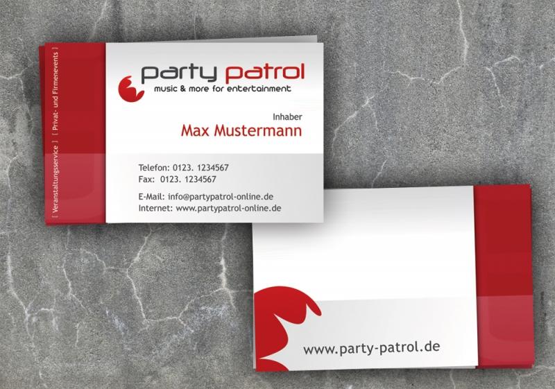 Visitenkarte Für Eventveranstalter Visitenkarten Design