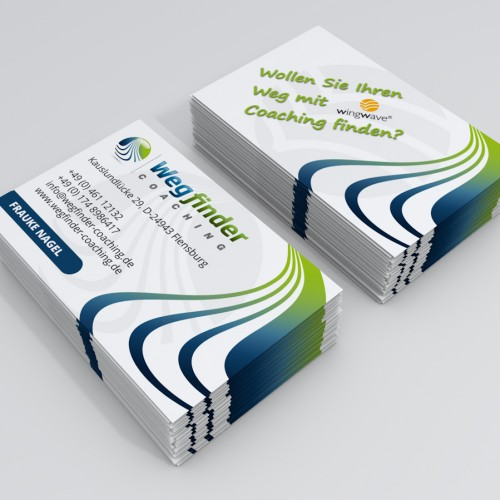 Visitenkarte Briefpapier Für Coaching Visitenkarten Design
