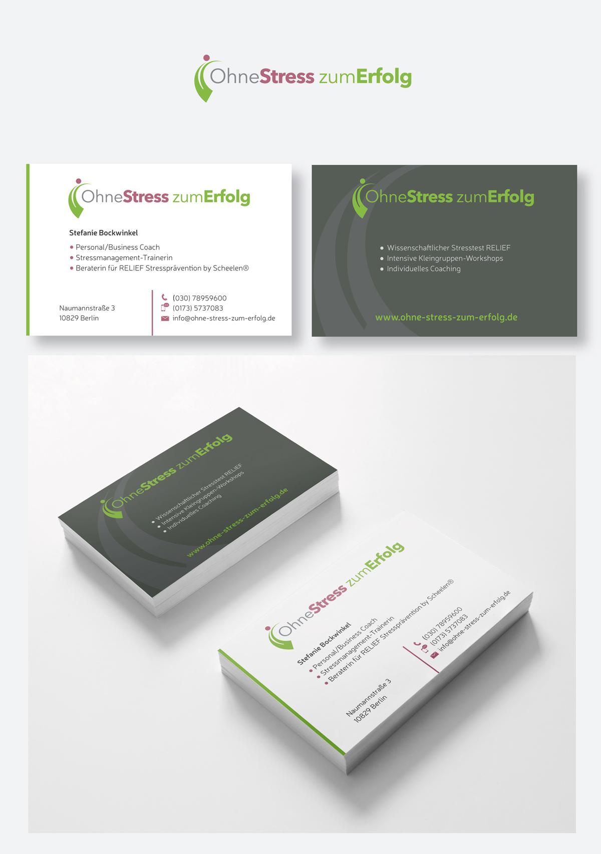Visitenkarten Design Für Ohne Stress Zum Erfolg Business