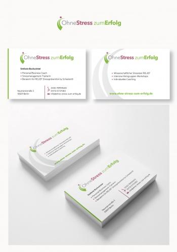 Visitenkarten-Design für Ohne Stress zum Erfolg