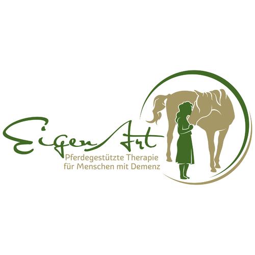 Logo & Visitenkarte für pferdegestützte Therapie für Menschen mit Demenzerkrankung