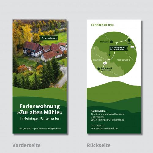 Flyer-Design für Ferienhausvermietung