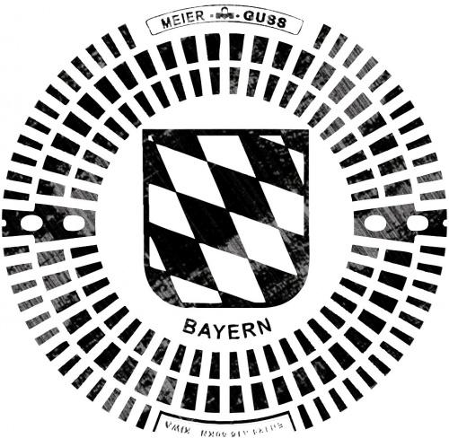 T-Shirt für seine Heimatstadt mit Gullideckel-Druck München/Bayern