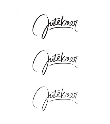 Belettering of logo voor modelabel
