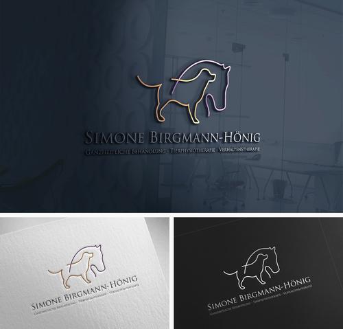 Logo-Design für ausgebildete Tierphysiotherapeutin mit Schwerpunkt Pferd und Hund