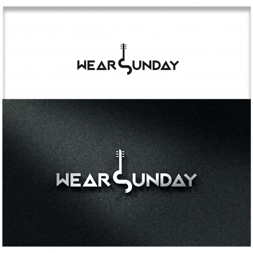 Bandlogo-Design für Wear Sunday