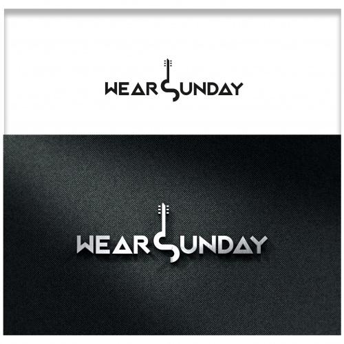 Bandlogo-Design für Wear Sunday