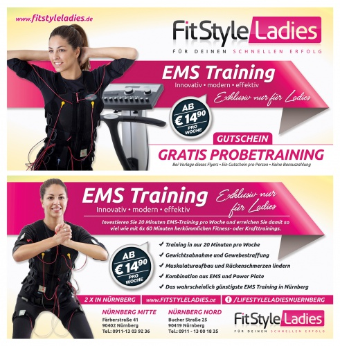 Flyer-Design für EMS Training