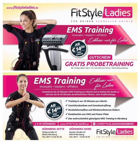 flyer design für ems training coupon design