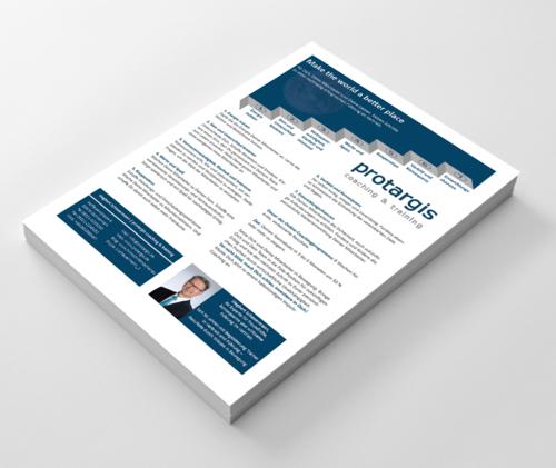 Flyer-Design für Online-Coaching von Führungskräften im Vertrieb