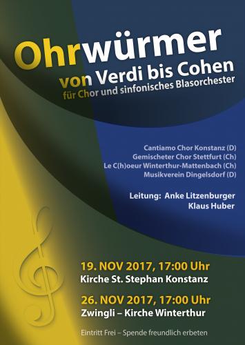 Plakat-Design für Chor und Blasorchester