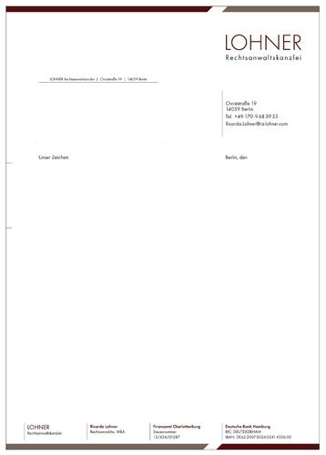 Geschäftspapiere für Rechtsanwaltskanzlei