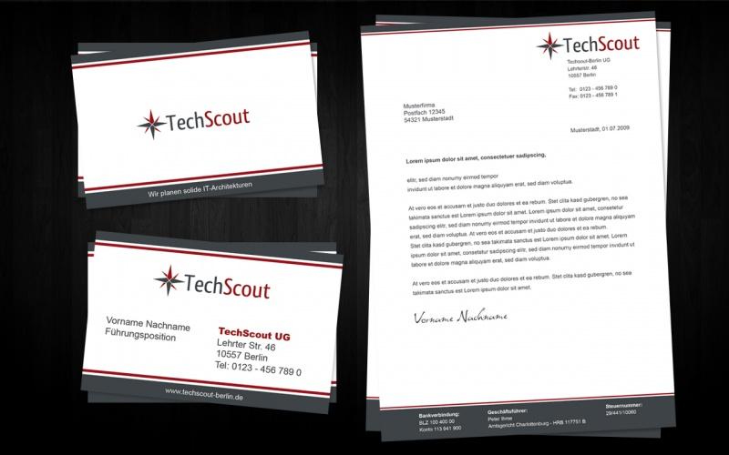 Briefpapier Und Visitenkarte Techscout Ug Business Card