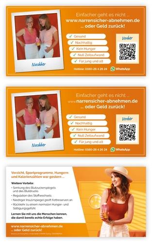 Flyer-Design für Anbieter von Produkten für Gewichtsmanagement