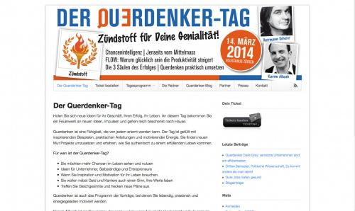 Der Querdenker-Tag: Flyer&Header für einen Event zum Thema Querdenken.