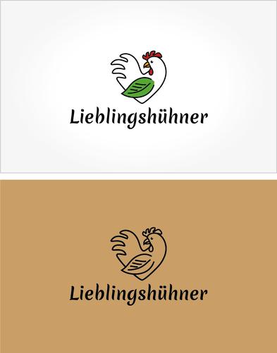 Logo-Design für die Aufzucht von Masthähnchen in Freilandhaltung