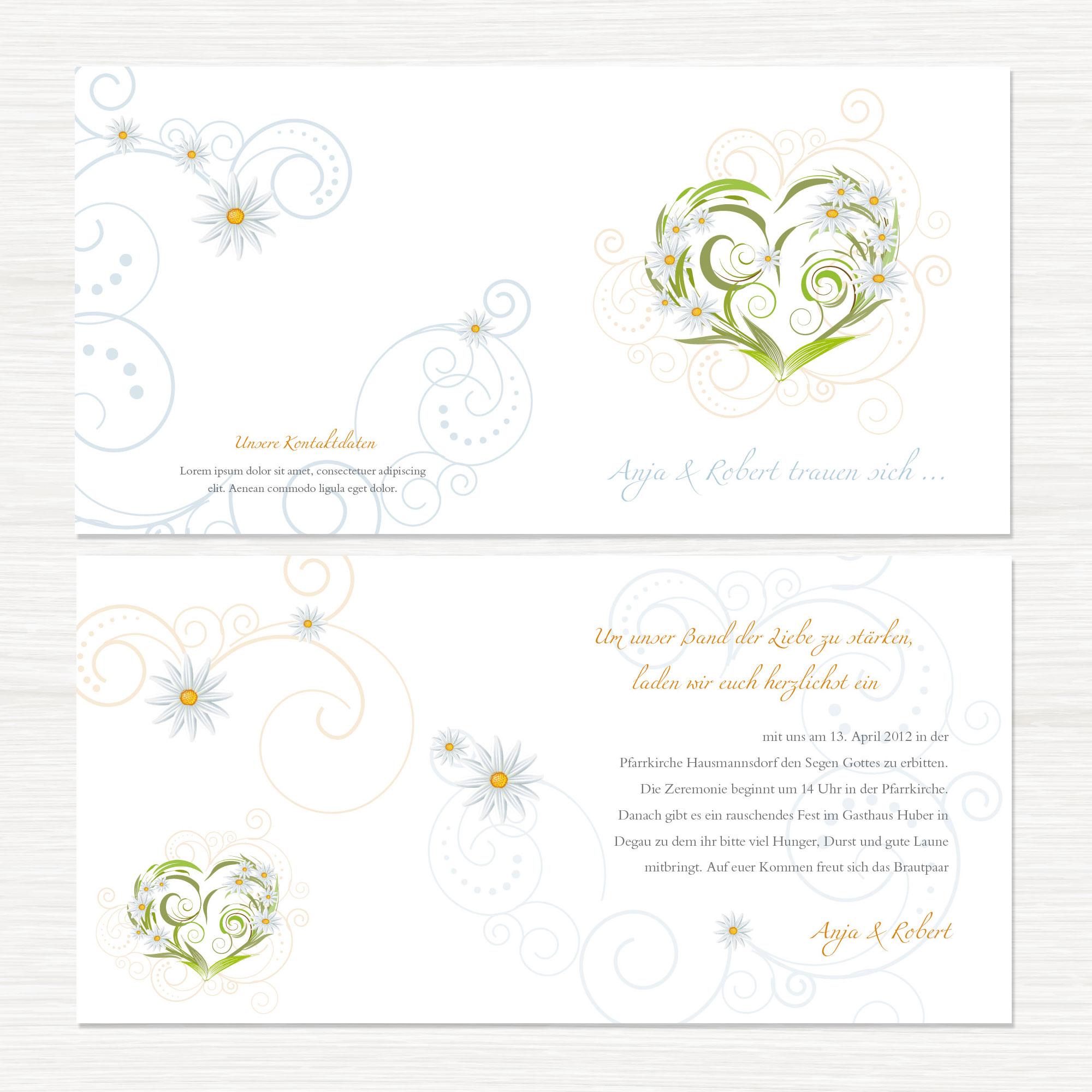 Hochzeits-Einladungen