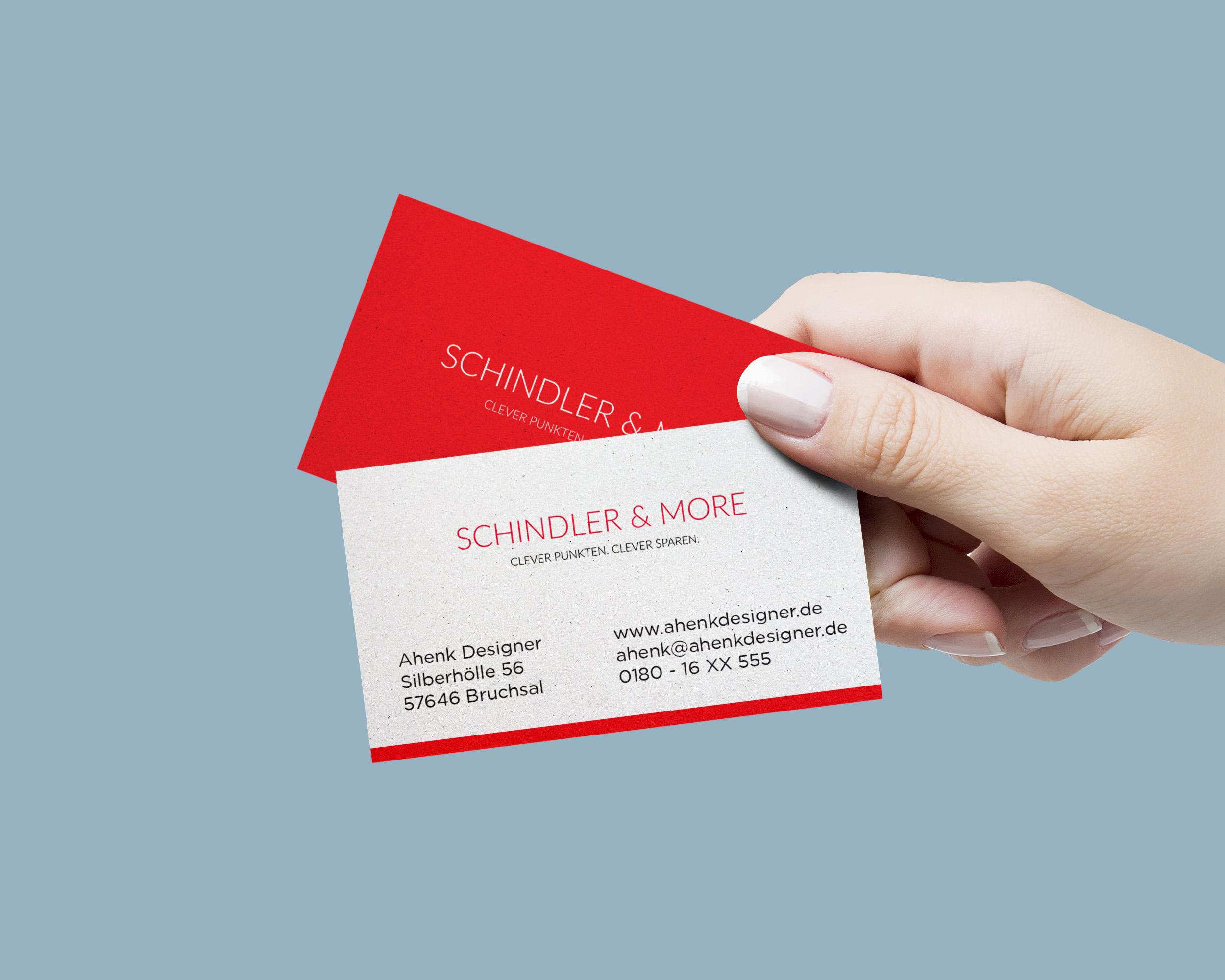 Regionale Kundenkarte In Den Farben Rot Weiß Visitenkarten