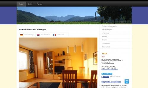 Webbanner-Design für meine Ferienwohnung