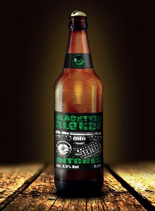 Gestaltung einer Bier-Etikette für eine Numetal Band