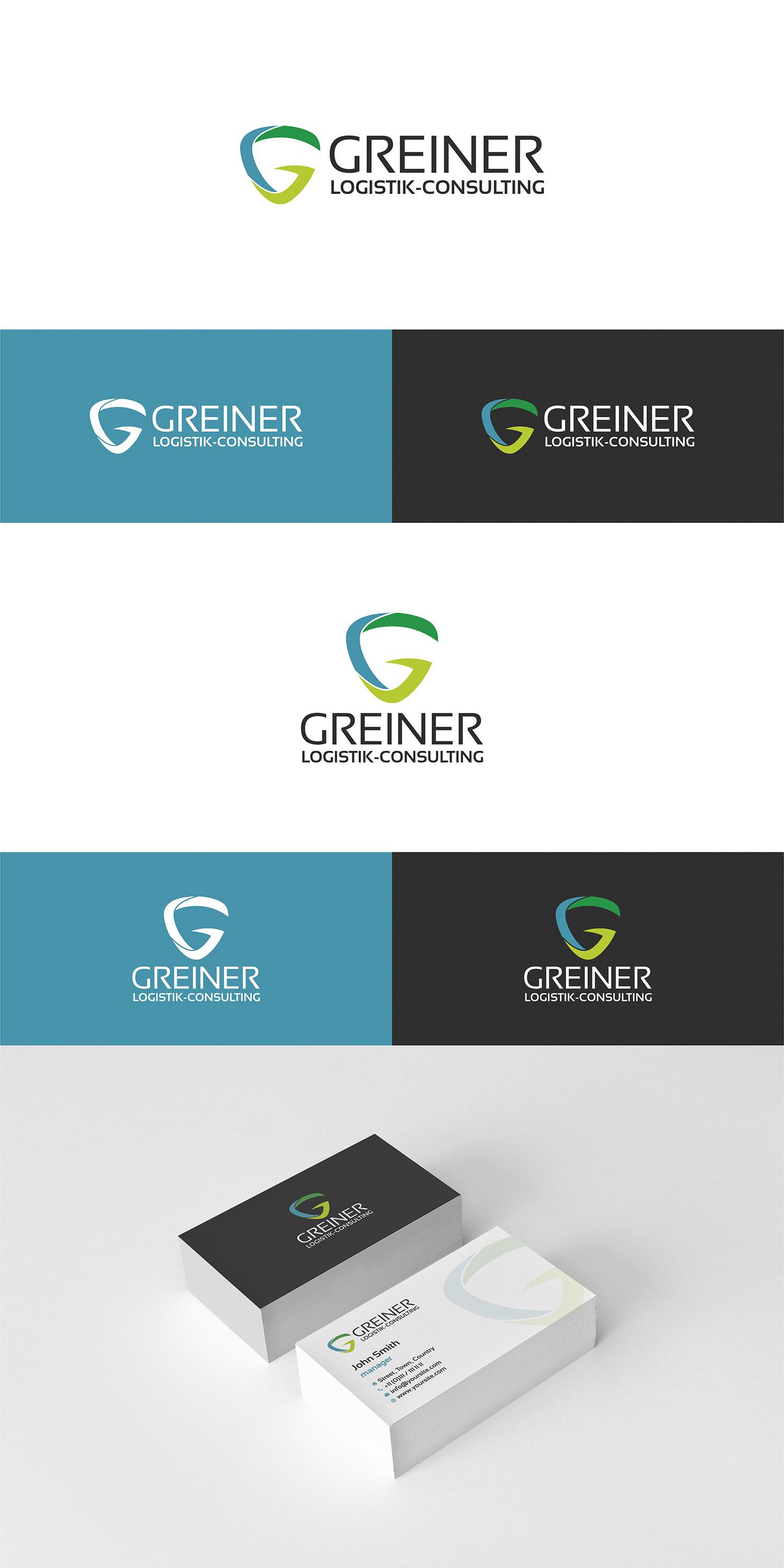 Logo Visitenkarte Für Greiner Logistik Con Logo