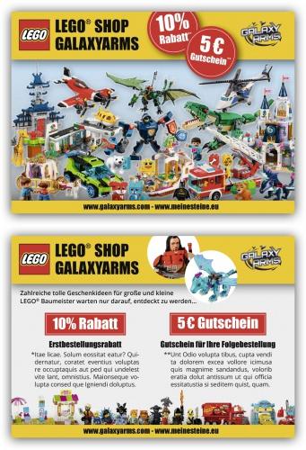 Gutschein-Design für Lego Onlineversandhandel