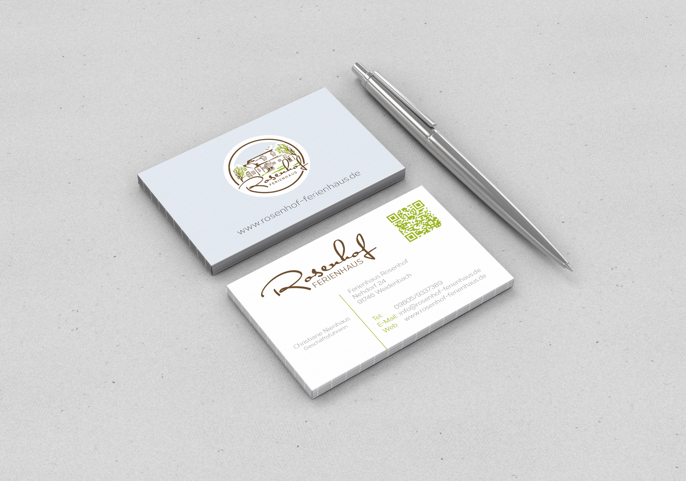 Visitenkarten-Design für Ferienhausvermietung