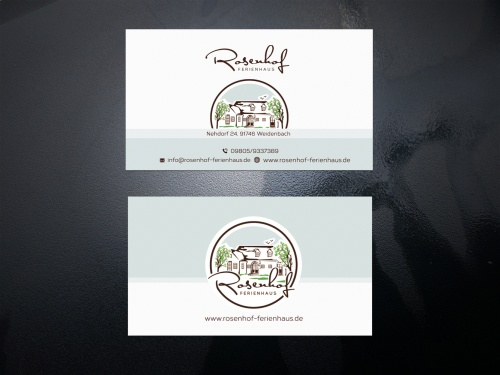 Visitenkarten Design Für Ferienhausvermietung