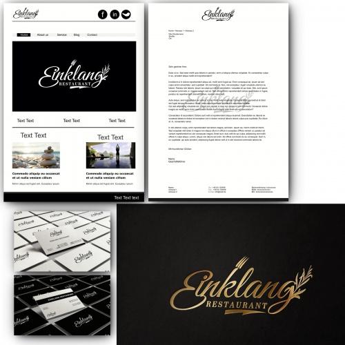 Logo-Design für Restaurant Einklang