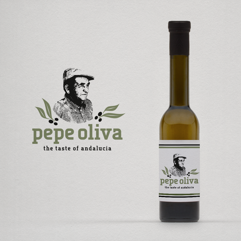 Logo, VK und Briefpapier-Design für pepe oliva olivenöl