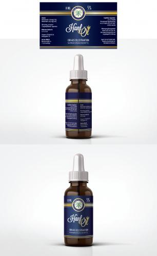 Etikett für Heal Nature CBD Öl