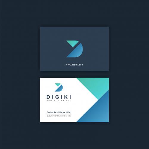 Logo Visitenkarte Für Digital Consulting U Logo Design