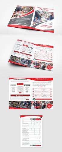 Flyer-Design für  junges, dynamisches Unternehmen, spezialisiert auf innovative Trainingskonzepte