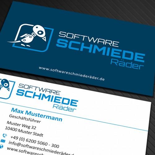 Visitenkarten-Design für Softwareentwicklung