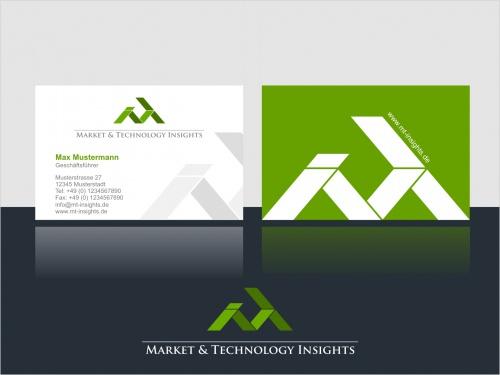 Logo und Visitenkarte für Marktrecherchedienst