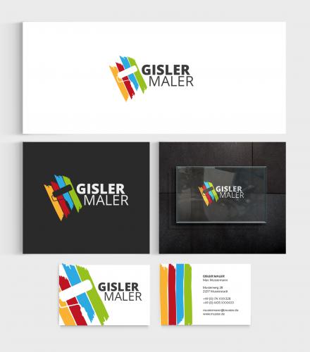 Gisler maler logo visitenkarte - Visitenkarten gratis vorlagen ...