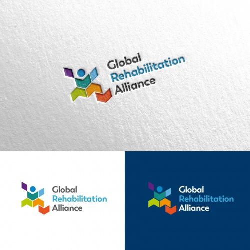 Design de logo pour lélaboration et la mise en œuvre de services de réadaptation