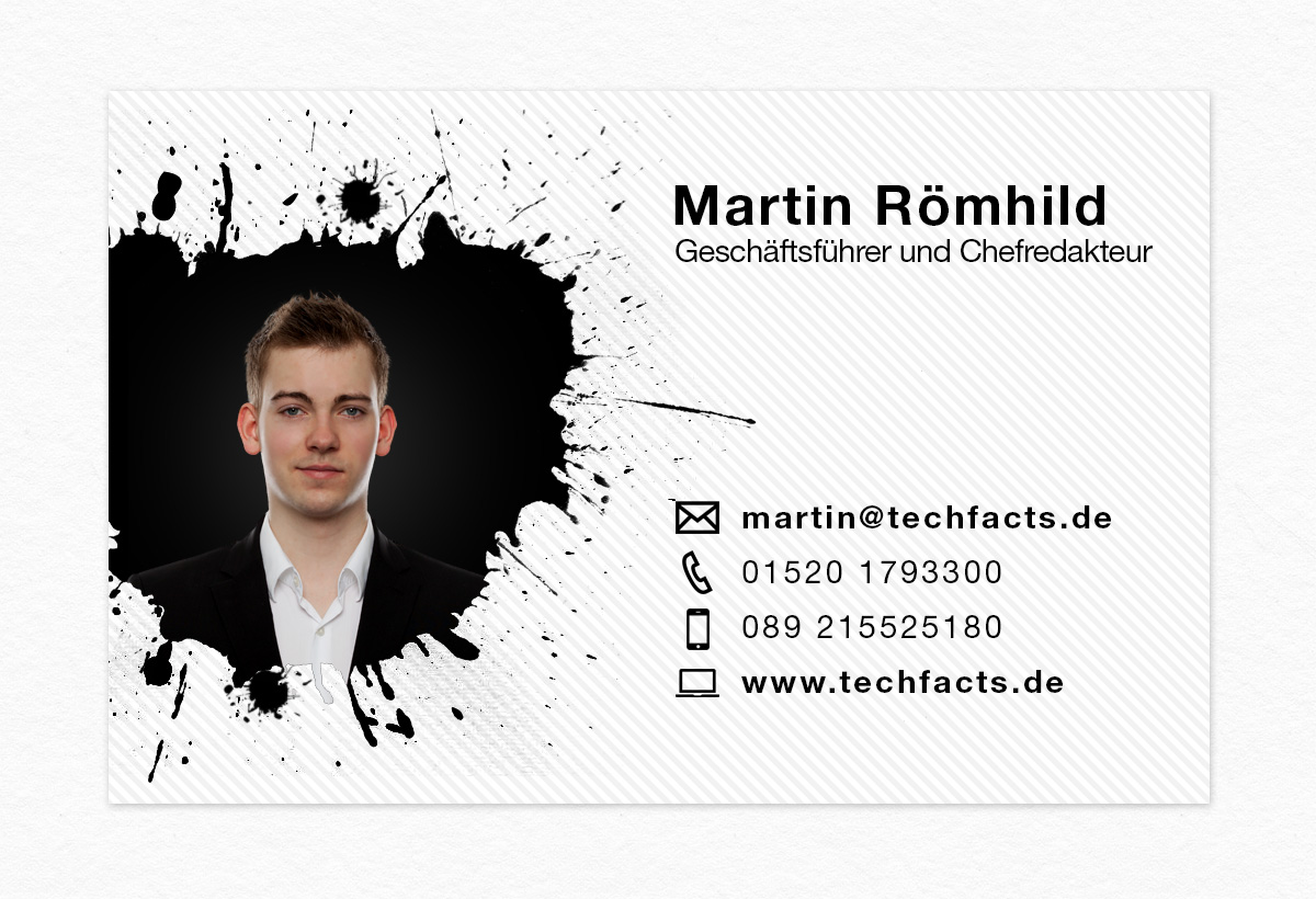 Visitenkarte Für Geschäftsführer Von Techfacts De